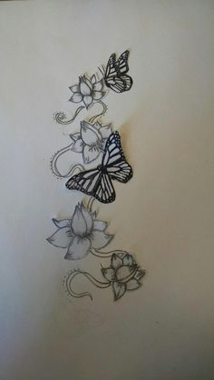 Lotus and butterfly design