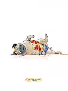 mike norton-wonder-pug original image posted at: http://www.ihatemike.com/post/95297804518/new-pug-prints-for-my-september-shows-colors-by