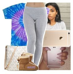"""""""flood to get my mind off of things about my dad."""" by lamamig ❤ liked on Polyvore featuring Michael Kors and UGG Australia"""