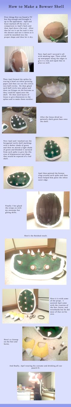 How to Make a Bowser Shell by *MythicPhoenix on deviantART More
