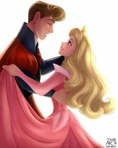 Disney Couples for Best of Disney Art by Archibald Art (Aurora and Phillip)