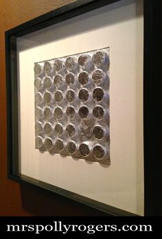 Make Bottle Cap Art For Your Walls Tutorial.  Blog & Photos.  From MrsPollyRogers.com