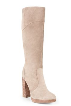 BCBG Charlize Tall Suede High-Heel Boot, $395