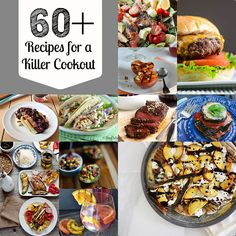 60+ Recipes for a Killer Cookout ~ What are you grilling this weekend?? Here's more than enough inspiration to make your cookout the best, yummiest EVER! ~ from Stephie Cooks