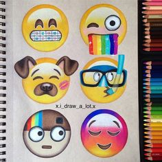 """34.6k Likes, 130 Comments - Art Sharing Page (@arts_secret) on Instagram: """"Creative and funny emojis! By @xi_draw_a_lot.x _ ▪Follow our fellow page @art_conquest _ Tag…"""""""
