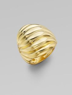 David Yurman 18k Yellow Gold Sculpted Cable Ring