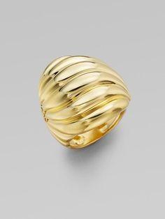 David Yurman 18k Yellow Gold Sculpted Cable Ring