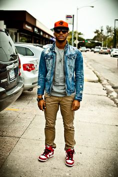 Daemaine Hines - Marc By Jacobs Skull Chain, Forever 21 Frames, X Deep 10, Charles & 1/2 Frayed Denim Jacket, Nike Dunks Varsity Red, White, And Black, Levi's® Levi 511 Straight Leg Pant, Citizen Eco Drive Mens Perpetual Calendar Chrono - X Deep