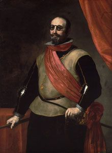 """history-of-fashion: """" ab. 1635 Jusepe de Ribera - Portrait of a Knight of Santiago (Meadows Museum) """" Caravaggio, Naples, St James The Greater, 17th Century Clothing, Spanish Art, Baroque Art, Spanish Painters, Chiaroscuro, Beautiful Paintings"""