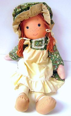 RARE 25 Inch Vintage Holly Hobbie AMY Knickerbocker Cloth Doll in Excellent Condition