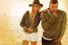 Golden Beach Fashion Ads - Dylan George and Abbot + Main Fall 2012 Campaign Stars Kate Upton (GALLERY)