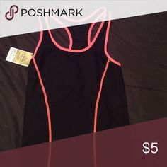Workout tank Black and pink workout tank from Ross. Tops