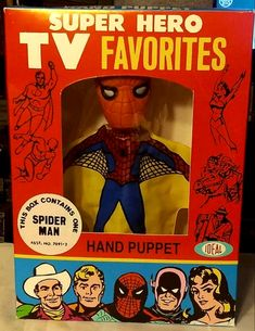 Rankin/Bass-historian: Your Friendly Neighborhood Spider-Man Hero Tv, Funko Pop Avengers, Classic Monsters, Rudolph The Red, Here Comes, Monster Party, Hand Puppets, Book Signing, Vintage Toys