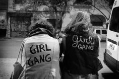 i think us girls on here should start a girl gang and do fun stuff like making diy jackets, dying our hair pastel colors, smashing the patriarchy, etc.