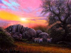The Curiosity of Goats (painting by artist Layne Johnson)