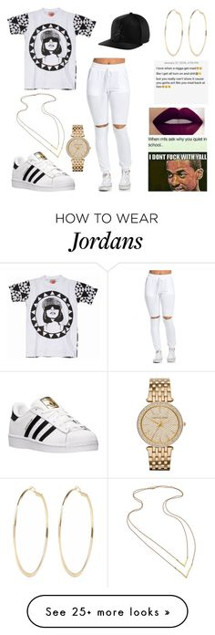 """""""Untitled #213"""" by criminalheart on Polyvore featuring M.I.A., adidas, River Island, MICHAEL Michael Kors, Jennifer Zeuner, women's clothing, women, female, woman and misses"""