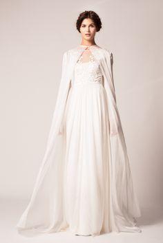 Winter 2015 Bridal Collection - Saffron Dress worn with Bellflower Coat