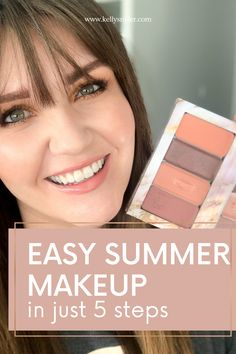 Discover how easy it is to create a quick makeup routine for busy days! This simplified method for a summer makeup look is ready in minutes. Keep your skin fresh all summer long with this tutorial! Easy Summer Makeup is totally possible for busy moms no matter your schedule! With Seint Beauty, you don't have to choose between looking great and being the mom you want to be. www.kellysnider.com Quick Makeup Routine, Everyday Makeup Routine, Daily Beauty Routine, Beauty Routines, Makeup Tutorial Step By Step, Easy Makeup Tutorial, Simple Everyday Makeup, Simple Makeup, Makeup For Moms