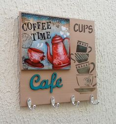 Diy Home Crafts, Handmade Crafts, Easy Crafts, Stencil Painting, Painting On Wood, Diy Para A Casa, Funny Wood Signs, Coffee Bar Home, Art N Craft