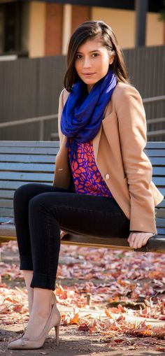 Wearing Brights Colors For Winter by Stylishly Me