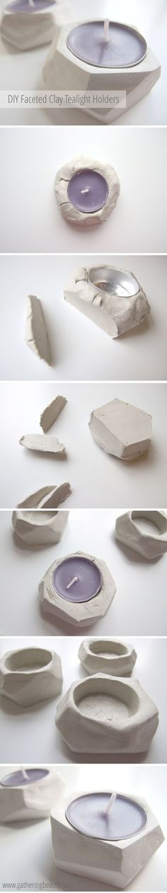 DIY Faceted Clay Tea