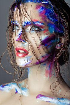 #makeup #makeupartist  #work #gift #beauty #beautiful #girl #art #creative #photo #eyes #lips #skin #newyear #blue #red #white #визажист #макияж