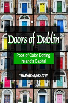 ireland travel Those famous doors of Dublin. Curious as to how they became so iconic? Want to know where to find them? Discover the interesting stories and locations here! Europe Destinations, Europe Travel Tips, Travel Guides, Travel Articles, Backpacking Europe, European Vacation, European Travel, Maldron Hotel, Irish Tourism