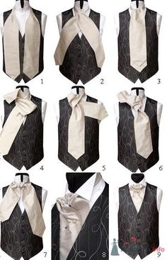 This is what an Ascot Cravat looks like before it's tired, and it can be worn inside, or outside the collar. Steampunk Men, Steampunk Costume, Steampunk Fashion, Victorian Fashion, Vintage Fashion, Cravat Tie, Retro Mode, Sharp Dressed Man, Gentleman Style