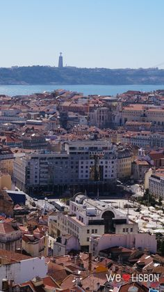 Lisbon and the Tagus river view from Nossa Senhora do Monte viewpoint Wine Drinks, Great View, Lisbon, Paris Skyline, Terrace, Spain, River, World, City