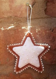 Felt gingerbread christmas beaded ornament by TillysHangout