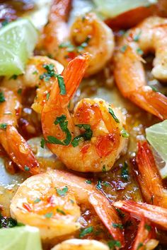 Sweet chili-garlic shrimp - easiest and most delicious shrimp you can make in 15 mins. Sticky sweet, savory with a little heat. SO good!