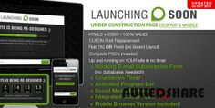 Launching Soon – Under Construction Page V2