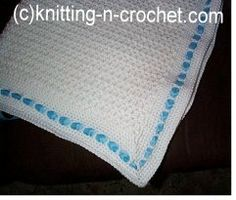 Easy Crochet Baby Blanket Pattern - Can add any color ribbon once you know if it's a boy or girl!