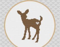 Owl Silhouette Cross Stitch PDF Pattern2 por kattuna en Etsy