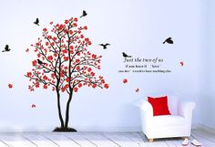 tree with birds wall decals wall graphic for baby by MpDecals, $68.00