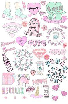 Phone Stickers, Tumblr Stickers, Cute Stickers, Planner Stickers, Cute Little Drawings, Cute Drawings, Emoji Board, Cute Wallpaper For Phone, Iphone Wallpaper