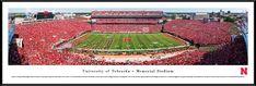 Nebraska Cornhuskers Football Panorama - Memorial Stadium Panoramic Picture - Standard Frame $99.95
