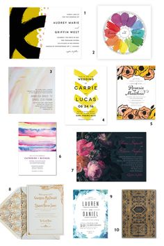 10 Art-Inspired Wedding Invitations for Design-Minded Couples (Apartment Therapy Main) Wedding Invitation Suite, Wedding Stationary, Art Assignments, Simple Poster, Youre Invited, Wedding Paper, Here Comes The Bride, Marry Me, Celebrity Weddings