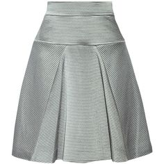 Temperley London Maestri satin skirt (6 090 UAH) ❤ liked on Polyvore featuring skirts, grey, grey skirt, grey knee length skirt, satin skirt, knee length skirts and gray skirt