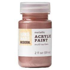 Hand Made Modern - Metallic Acrylic Paint - Warm Metal : Target Glitter Acrylics, Glitter Paint, Gold Paint, Metallic Paint, Rustoleum Spray Paint, How To Make Paint, Gold Hands, Foam Crafts, Kid Crafts