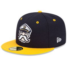 Lake County Captains Authentic Alternate 1 Fitted Cap - Cleveland MiLB Team