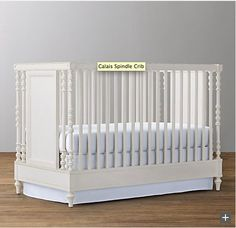 Calais Spindle Crib in Heirloom White by Restoration Hardware Baby & Childe