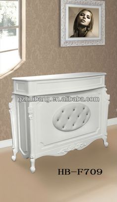 European style beauty salon white reception desks HB-F709