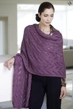 Tahki Stacy Charles, Inc., free knit lace pattern shawl wrap