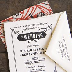 1920's inspired wedding invitation by Ellie Snow