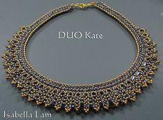 DUO KATE SuperDuo Beadwork Necklace Pdf tutorial by bead4me