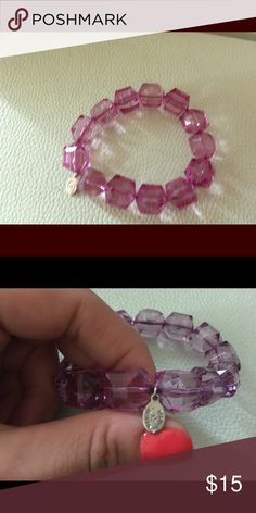 Tarina Tarantino bracelet Purple bracelet by Tarina Tarantino. Perfect conditions, barely worn Tarina Tarantino Jewelry Bracelets