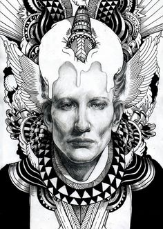 portrait drawing part 2 by iain macarthur, via Behance