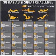 30 day abs & squAt