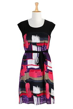 eShakti Color theory shift dress  use a t-shirt for the top?
